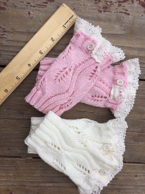 Niño bebé tejer calentadores con cordón y el por Varietyislife