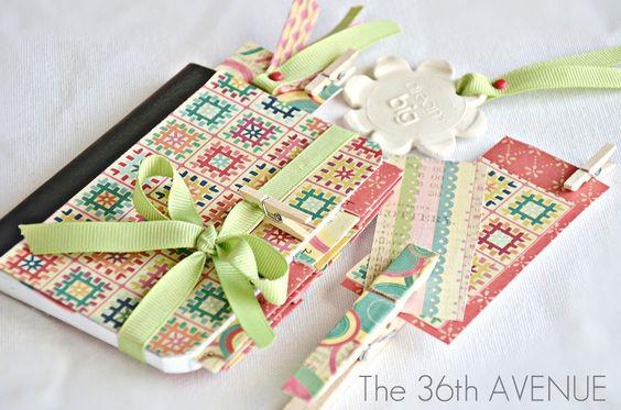 Make a journal… Cute idea.