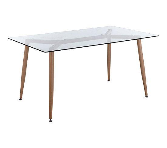 table rectangle l 150 cm spider verre