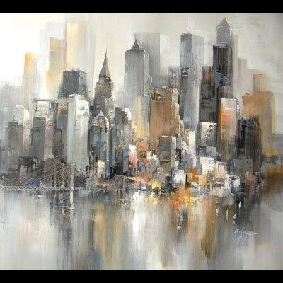 tableau peinture sur new york