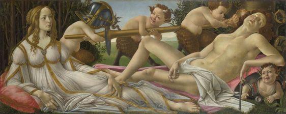 Venus y Marte, de Botticelli