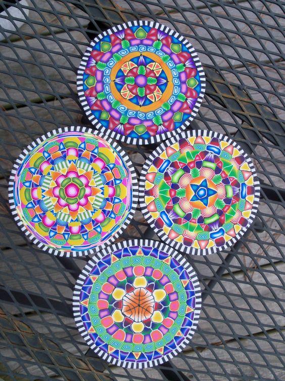 Kathy Koontz  Polymer Clay Bright Patterned Kaleidoscope by FlowertownOriginals, $32.00  #MarMad #HandmadeC