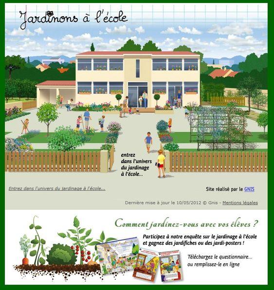 Un site d di au jardinage l 39 cole avec beaucoup d 39 id es for Site de jardinage