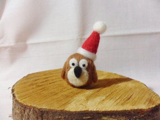 Needle Felted Christmas Owl by feltindevon, £6.00