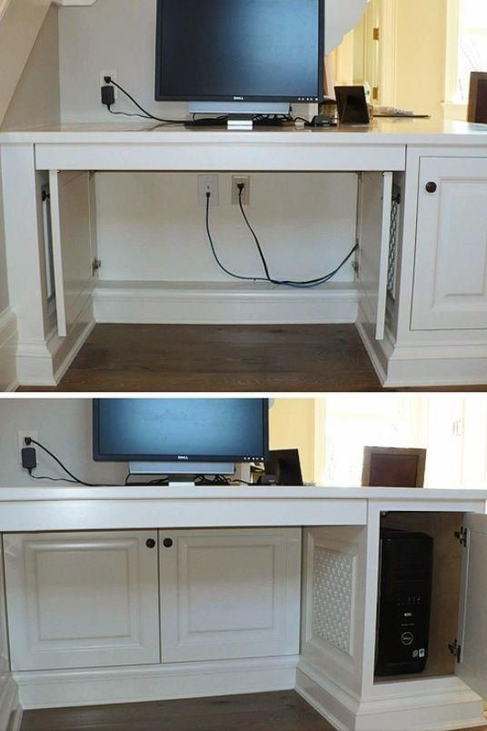 Hide cords with cabinet doors!