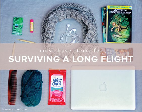 Must-have items for surviving a long flight