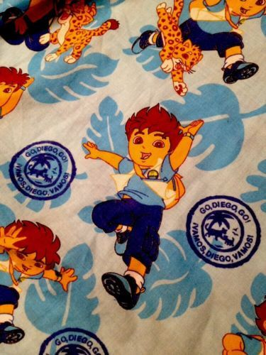 Go diego go cartoon character toddler fitted bed sheet for Go diego go bedding