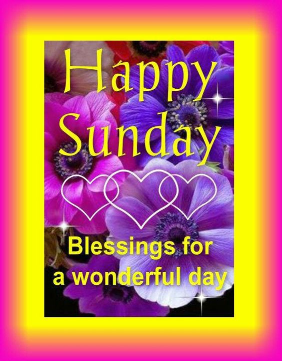 Sunday blessings...: