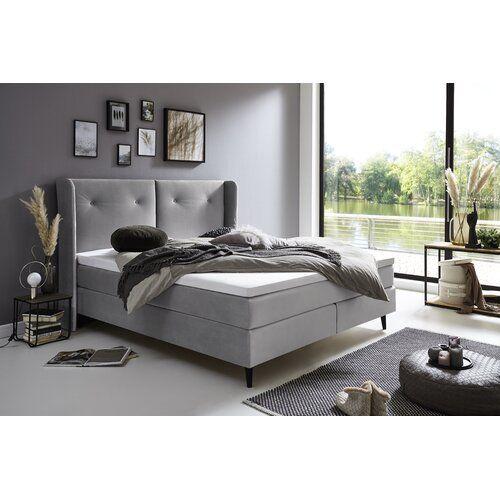 Boxspringbett Mit Topper Atlantic Home Collection Farbe Grau