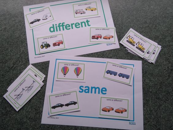 This set of Same or Different Vehicle Theme Sorting cards is easy prep. The sorting boards are also available in my store, for free.