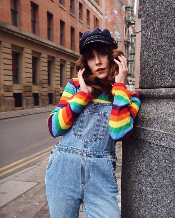 According to Fashion Girls, you need a Rainbow Stripe Jumper. How to beat January blues – buy a rainbow jumper. Introducing the item taking Instagram by storm, making every blogger look happy and cool AF. Tap for more rainbow in your life. #Knitwear #jumper #fashionBloggers