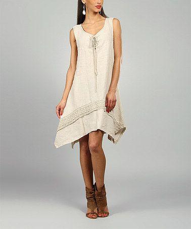 Look what I found on #zulily! Sand Leslie Linen Handkerchief Dress #zulilyfinds