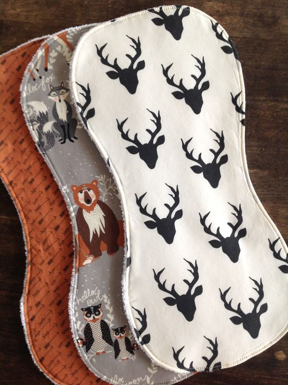 Burp Cloths Boy-Set of Three, Gender Neutral-Boy-Burp Cloth-Burp Cloth Girl-Woodland-Contoured Burp Cloths-Burp Clothes-Deer by bbsprouts on Etsy https://www.etsy.com/listing/245715142/burp-cloths-boy-set-of-three-gender