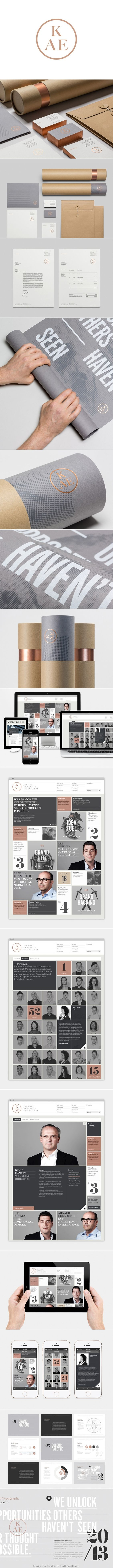 Love the use of Copper and it's transition between print (acutally metallic) to web-- KAE | Socio Design