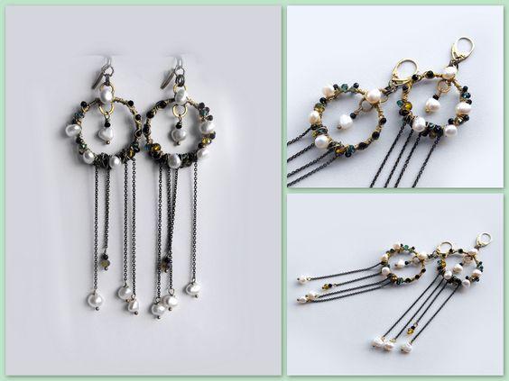 wire wrap long earrings