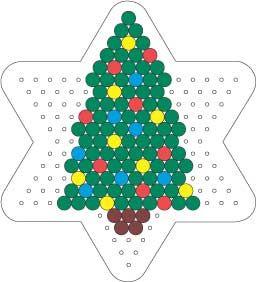 Christmas tree perler bead pattern:
