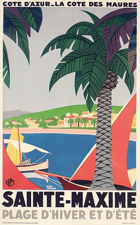 South Of France Vintage Posters