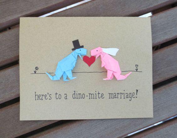 Dinosaur Wedding Invitations: Dinosaur Wedding Card Funny Wedding Card Cute By
