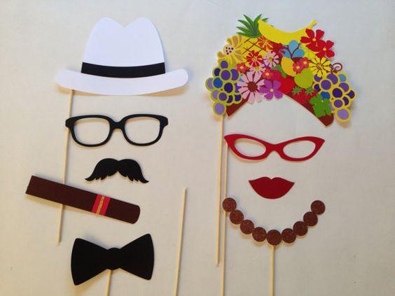 Photobooth fête cubaine les accessoires par PureSimpleThings