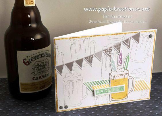 Papierkreationen.net: Cheers! - Maßvolle Geburtstags-Grüße