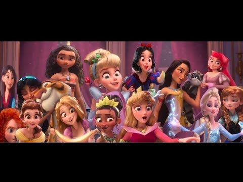 Wreck It Ralp 2 Best Scene All The Disney Princess Together In 3d