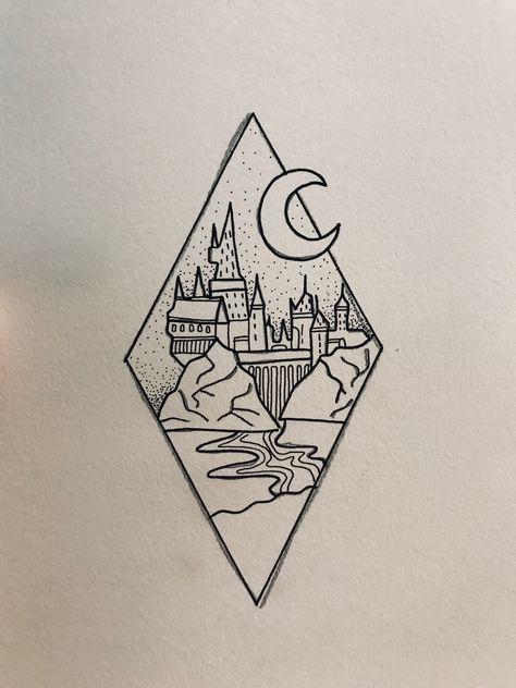 Drawing Ideas Simple Doodles Shape 47 Super Ideas Harry Potter Drawings Harry Potter Tattoos Harry Potter Art