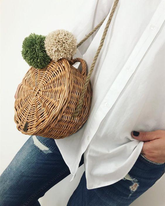 •wicker bag byM.S• ze sznurkiem jutowym || #wickerbasket #handmadebag #fashionbag #bagsbym #polishbrand #byM.