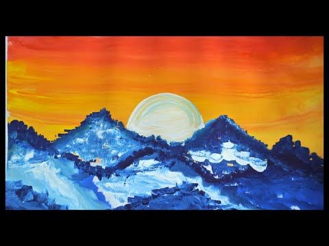 Landscape Paintings Watercolor Paintings Poster Color Painting Easy Youtube Poster Color Painting Landscape Paintings Easy Landscape Paintings