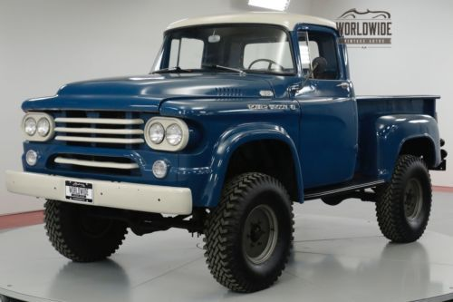 Old Dodge Trucks For Sale >> 1958 Dodge Power Wagon Rare Lifted 4x4 273 V8 Automatic