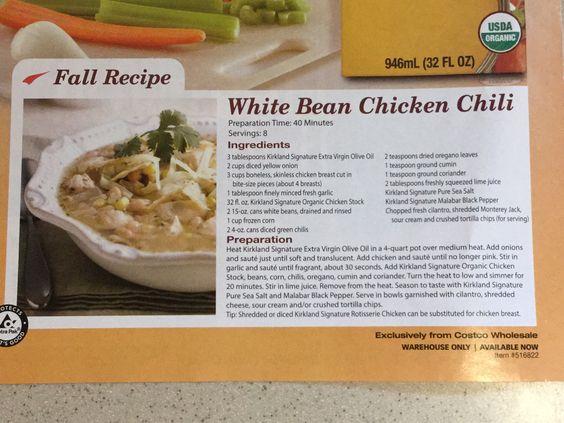 Costco White Bean Chicken Chili White Chili Chicken Recipe White Bean Chicken Chili Recipe Chicken Chili