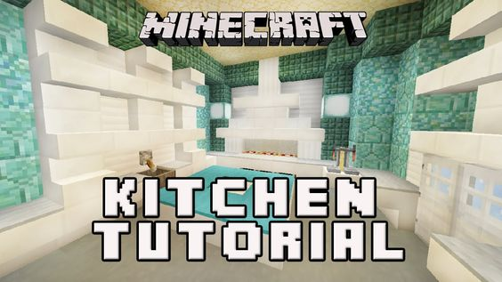 Minecraft Tutorial How To Make A Cool Kitchen Design (Coral House