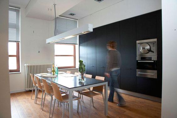 Trend detail van werkbladdampkap en dun werkblad de keukenarchitecten antwerpen de keukenarchitecten eigen realisaties Pinterest Interiors