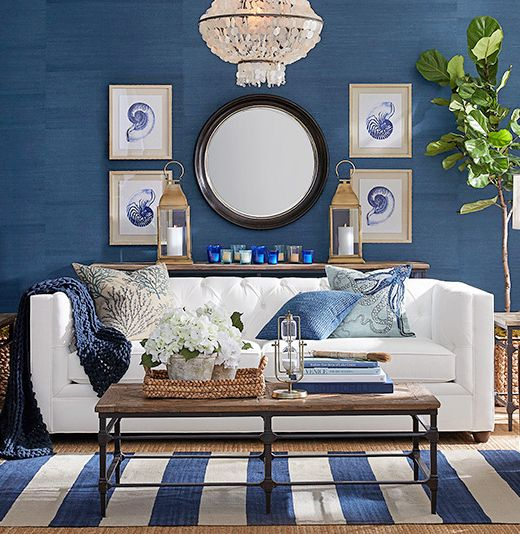 Blue Coastal Sea Life Wall Art Decor Ideas Decor Home Decor