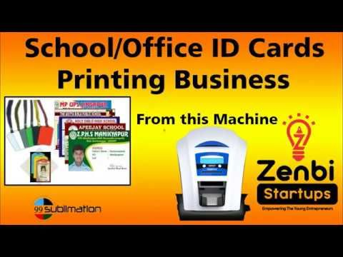 Pvc Card Printing Adhar Card Printing Machine Duplet Orphicard How To Operate Full Video Youtube Printed Cards Card Printer Printing Business