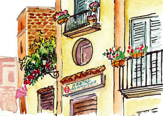 Sketching Italy Streets Of Sorrento