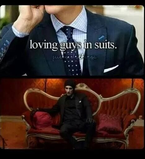 Chris Motionless in a suit. This is what they meant right ...