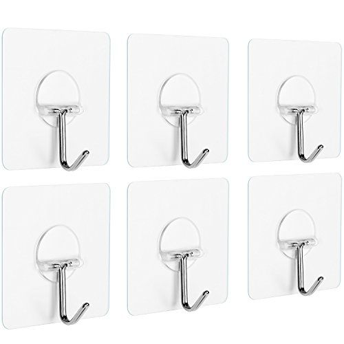 Anwenk Wall Hooks Adhesive Wall Hanging Hooks Stick On Hooks Ceiling Hanger Damage Free Hanging Reusable Waterproof O Ceiling Hangers Wall Hooks Hanging Hooks