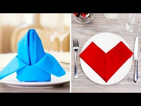 15 Fáciles Hermosas Y Nuevas Ideas Con Servilletas Para Decorar Tu Mesa Youtube Servilletas Doblar Servilletas Mesa De Comedor