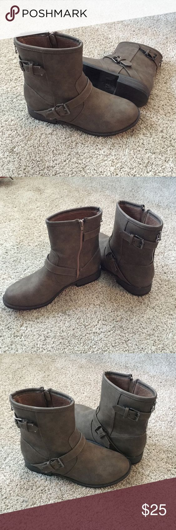 Twisted Ankle Boots- Size 9 Size 9 Twisted Ankle Boots, only worn once for about an hour. Excellent condition. They are a dark beige color. Twisted Shoes Ankle Boots & Booties