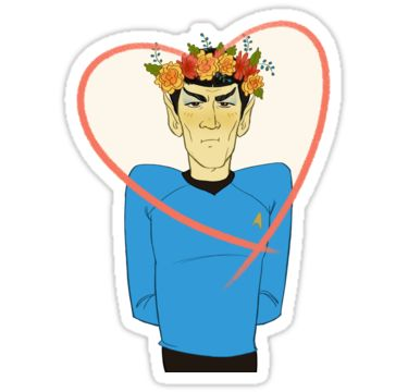 """""""First Officer Spock Valentine"""" Stickers by livielightyear 