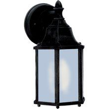 Another lighting option on the lower scale; Maxim MX 1026 Cast Aluminum 1 Light Outdoor Wall Sconce at LightingDirect.com.
