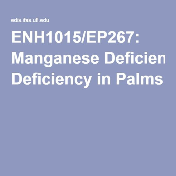 ENH1015/EP267: Manganese Deficiency in Palms