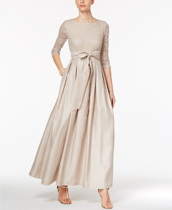 Jessica Howard Lace A-Line Gown | macys.com