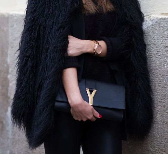 knockout purses - Saint Laurent Bag *Black Leather Chyc Clutch by Saint Laurent http ...