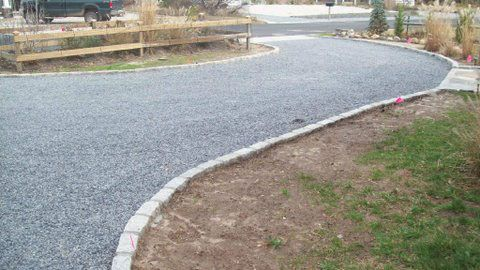Paver Edging Pebble Stone And Gravel Driveway On Pinterest