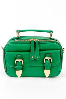 Oh Snap Buckle Bag in Green