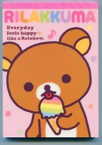 Rilakkuma Rainbow Memo Pad.