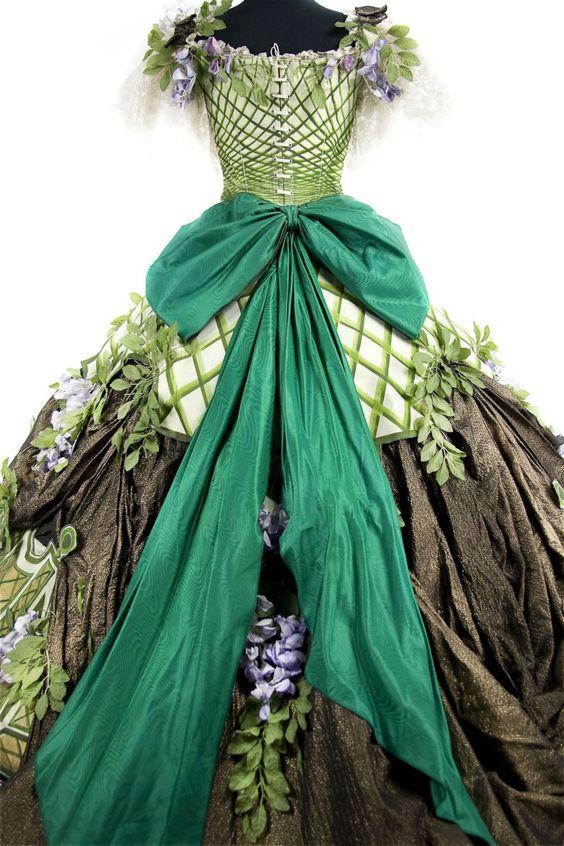 Daniel Ogier for Jacques Offenbach's Orphée aux enfers (1988) by Opera National de Paris: Flore dress
