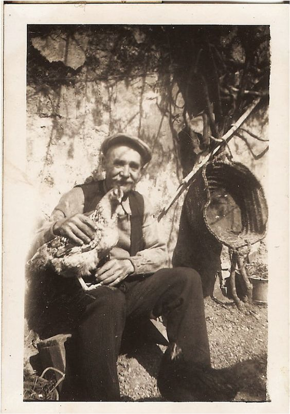 Fun ANTIQUE PHOTO of Gramps holding his Prized by vintagewarehouse, $3.50: