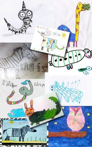 Dessins des gagnants du concours Khumba publiés sur le site de la little gallery